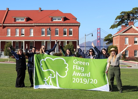 FIRST GREEN FLAG AWARD IN USA PRESENTED